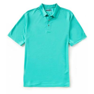 ラウンドトゥリーアンドヨーク ポロシャツ Performance Big and Tall Short-Sleeve Solid InnoFlex Polo Aqua Green