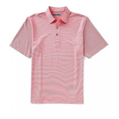 ラウンドトゥリーアンドヨーク ポロシャツ Performance Big & Tall Short-Sleeve Mini Stripe Polo Raspberry