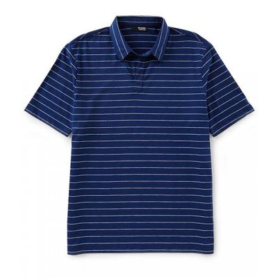 ムラノ ポロシャツ Slim-Fit Stripe Short-Sleeve Polo Shirt Midnight Blue