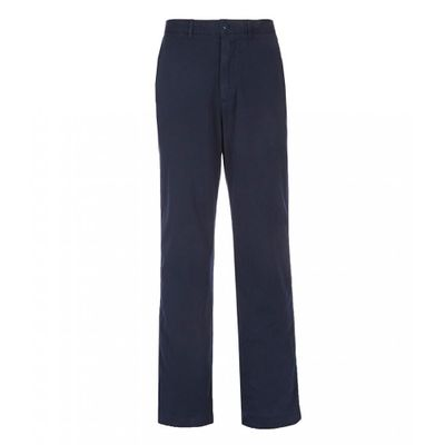 ダニエル クレミュ チノパン Madison Flat-Front Garment-Dye Sateen Stretch Chino Pants Dark Navy