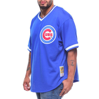 ミッチェル&ネス その他トップス chicago cubs ryne sandberg mitchell & ness authentic mesh bp jersey (b&t) Blue