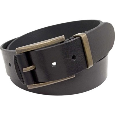 フローシャイム ベルト 40mm Italian Leather Belt Black Full Grain Leather
