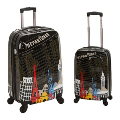 ロックランド スーツケース・キャリーバッグ 2 Piece Polycarbonate/ABS Upright Luggage Set F212 Departure