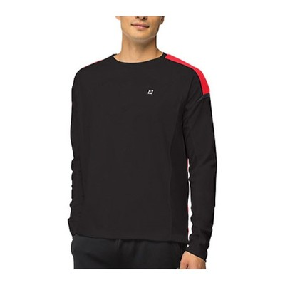 フィラ その他トップス Adrenaline Long Sleeve Top Black/Chinese Red/Nine Iron