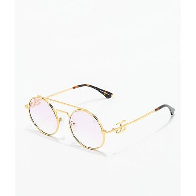 ザゴールドゴッズ メガネ・サングラス The Gold Gods Visionaries Gold & Pink Gradient Glasses Assorted