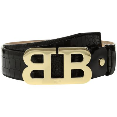 バリー ベルト Mirror B 45 Croc Stamped Belt Black
