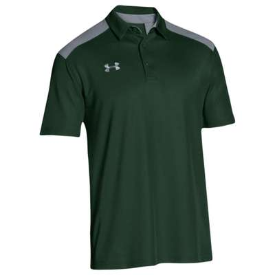 アンダーアーマー ポロシャツ Under Armour Team Colorblock Polo Forest Green/Steel