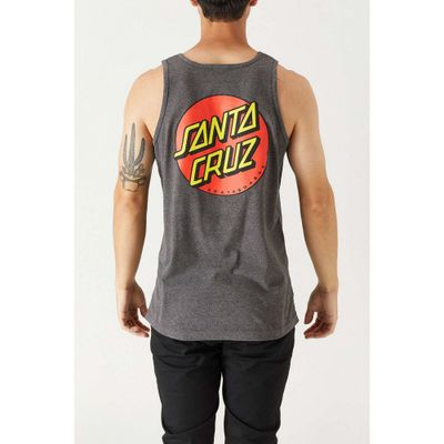 サンタクルーズ タンクトップ Santa Cruz Classic Dot Tank Top Charcoal