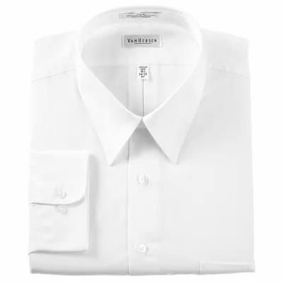 ヴァンハウセン Van Heusen シャツ Classic-Fit Poplin Dress Shirt White