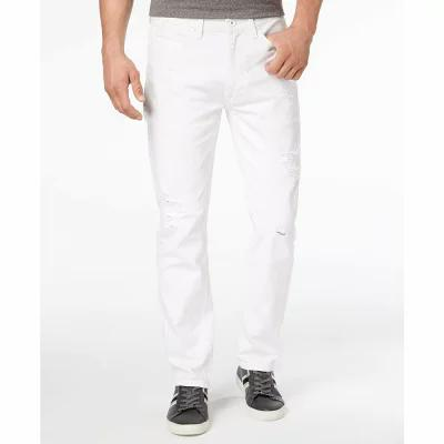 ショーンジョン Sean John ジーンズ・デニム White Party Athlete Relaxed Tapered-Fit Stretch Jeans Bright White