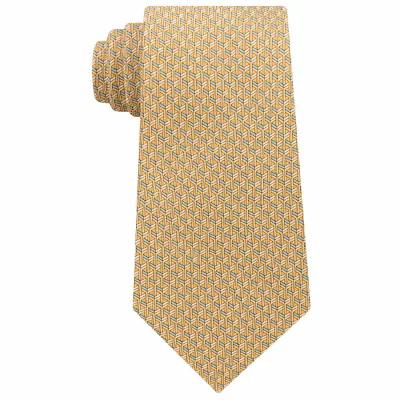 マイケル コース Michael Kors ネクタイ Interlinked Geometric Silk Tie Yellow