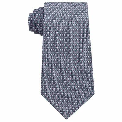 マイケル コース Michael Kors ネクタイ Interlinked Geometric Silk Tie Gray