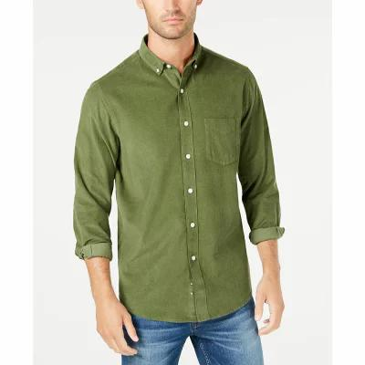 クラブルーム Club Room シャツ Corduroy Shirt Bronze Green