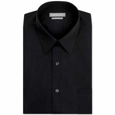 ヴァンハウセン Van Heusen シャツ Fitted Poplin Dress Shirt Black