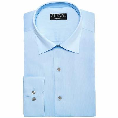 アルファニ Alfani シャツ AlfaTech by Bedford Cord Classic/Regular Fit Dress Shirt Light Blue