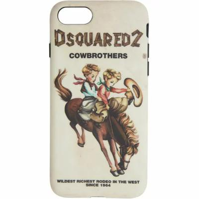 ディースクエアード Dsquared2 iPhone (8)ケース Multicolor 'Cowbrothers' iPhone 8 Case