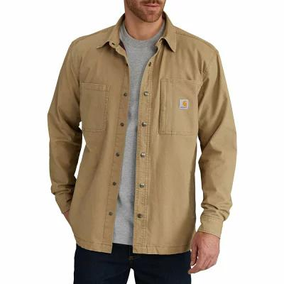 カーハート Carhartt フリース Rugged Flex Rigby Fleece-Lined Shirt Jacket Dark Khaki