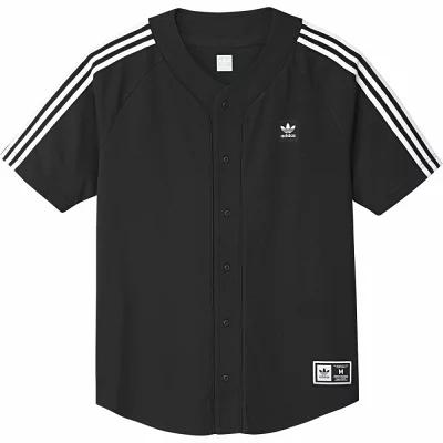 アディダス Adidas 半袖シャツ Baseball Jerseys Black/White