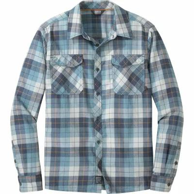 アウトドアリサーチ Outdoor Research シャツ Tangent II Long - Sleeve Flannel Shirts Naval Blue Plaid