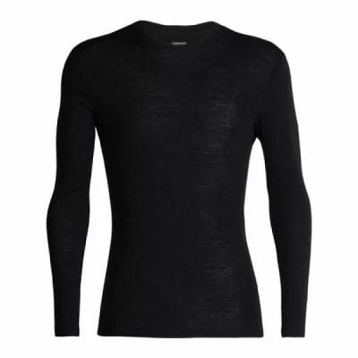 アイスブレーカー Icebreaker その他トップス 175 Everyday Long Sleeve Crewe Baselayer Black