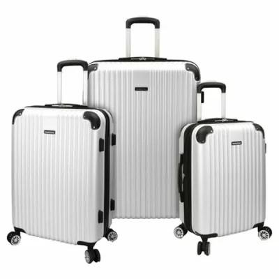 トラベラーズチョイス Traveler's Choice スーツケース・キャリーバッグ Charvi 3-Piece Hardside Expandable Spinner Set Pear White