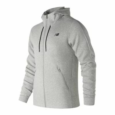 ニューバランス New Balance フリース MJ83502 247 Luxe Full Zip Fleece Jacket Athletic Grey