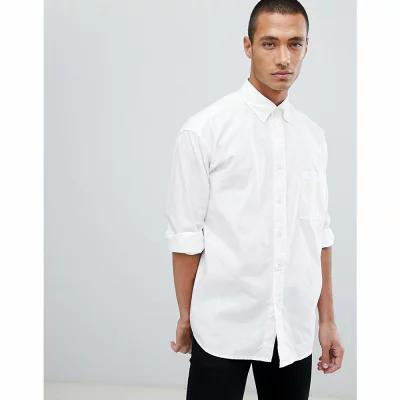 ヒューゴ ボス BOSS シャツ Boss Leight Relaxed fit buttondown oxford shirt in white White