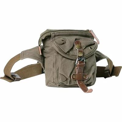 ヴァガボンド Vagabond Traveler ボディバッグ・ウエストポーチ Stylish 6.5' Small Canvas Waist Bag Military Green