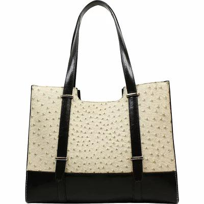 エミリーエム Emilie M ショルダーバッグ Clare Scoop Shopper Shoulder Bag Ecru/ Black