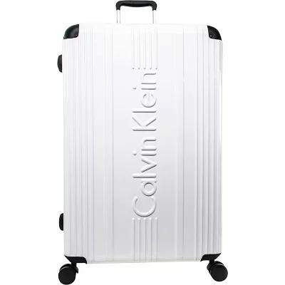 カルバンクライン Calvin Klein Luggage スーツケース・キャリーバッグ Fulton 28' Hardside Spinner Checked Luggage White