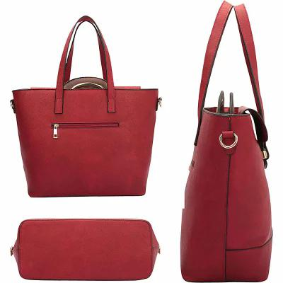 278c186ab9e8 [お取り寄せ商品] 2 in 1 Combination Mini Satchel and Tote Black/Wine。