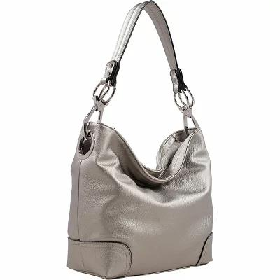MKFコレクション MKF Collection by Mia K. Farrow ショルダーバッグ Emily Stripe Hobo Silver