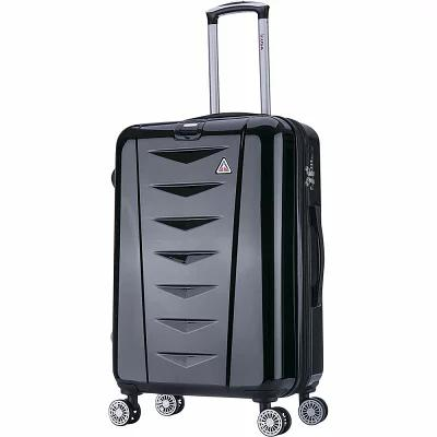 インユーエスエー inUSA Luggage スーツケース・キャリーバッグ Airworld 24' Expandable Lightweight Hardside Checked Spinner Luggage Black