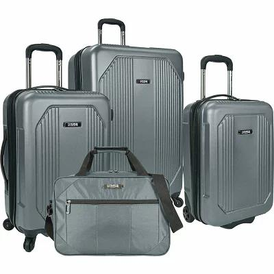 USトラベラー U.S. Traveler スーツケース・キャリーバッグ Bloomington 4-Piece Spinner Set Grey