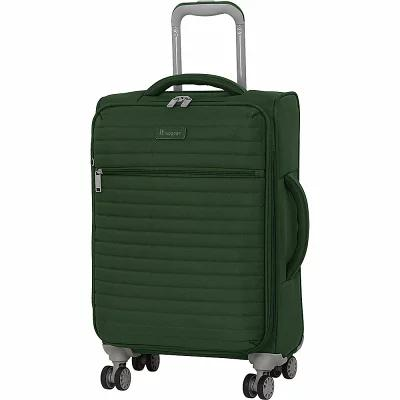 アイティ it luggage スーツケース・キャリーバッグ Quilte 21.5' Lightweight Expandable Carry-On Spinner Luggage Olive Green (Khaki)