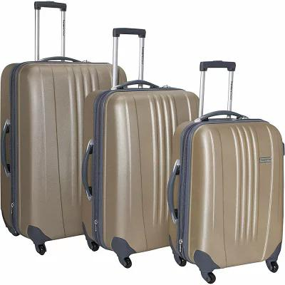 トラベラーズチョイス Traveler's Choice スーツケース・キャリーバッグ Toronto 3-Piece Hardside Spinner Luggage Set Gold