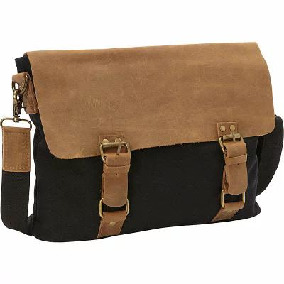 ヴァガボンド Vagabond Traveler メッセンジャーバッグ Classic Canvas Messenger Bag Black