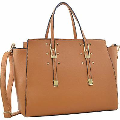 ダーザイン Dasein ハンドバッグ Elegant Buckle Strap Satchel Tan