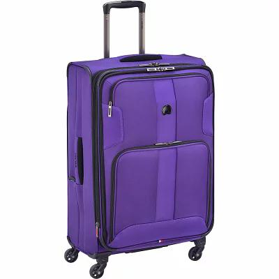 デルシー Delsey スーツケース・キャリーバッグ Sky Max 25' Expandable Spinner Checked Luggage Purple