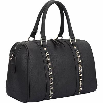 ダーザイン Dasein ショルダーバッグ Faux Leather Medium Satchel Shoulder Bag Black