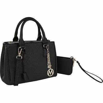 MKFコレクション MKF Collection by Mia K. Farrow ハンドバッグ Adrienne Satchel with Wallet Black