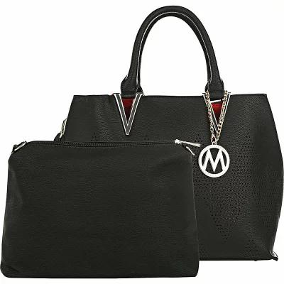 MKFコレクション MKF Collection by Mia K. Farrow ハンドバッグ Mercy 2 in 1 Satchel Black