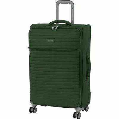 アイティ it luggage スーツケース・キャリーバッグ Quilte 27.4' Lightweight Expandable Checked Spinner Luggage Olive Green (Khaki)