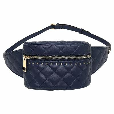 MKFコレクション MKF Collection by Mia K. Farrow ボディバッグ・ウエストポーチ Camilla Quilted Belt Waist Bag Navy