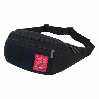マンハッタンポーテージ Manhattan Portage ボディバッグ・ウエストポーチ X Woolrich Alleycat WaistBag Buffalo Check Navy/Black