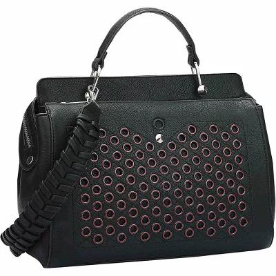 ダーザイン Dasein ショルダーバッグ Designer Holes and Weave Strap Shoulder Bag Black
