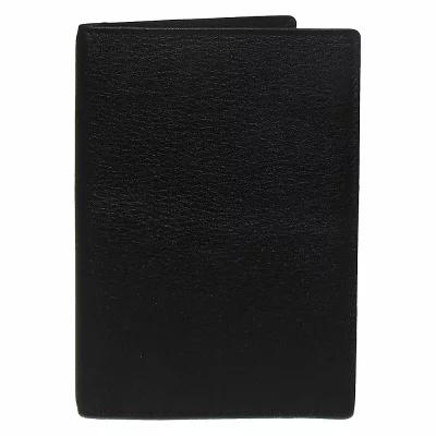 ボコーニ Boconi パスポートケース Grant RFID Passport Case Black Leather with Gray