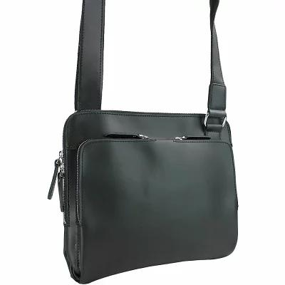 ヴァガボンド Vagabond Traveler メッセンジャーバッグ 12.5' Leather Messenger Slim Bag Black