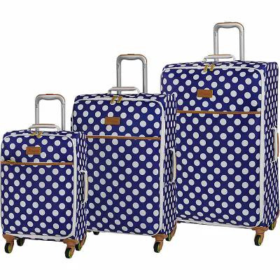アイティ it luggage スーツケース・キャリーバッグ Summer Spots 3 Piece Lightweight Expandable Spinner Luggage Set Blue/Cream