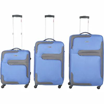 インユーエスエー inUSA Luggage スーツケース・キャリーバッグ 3D-City 3 Piece Lightweight Spinner Luggage Set Blue